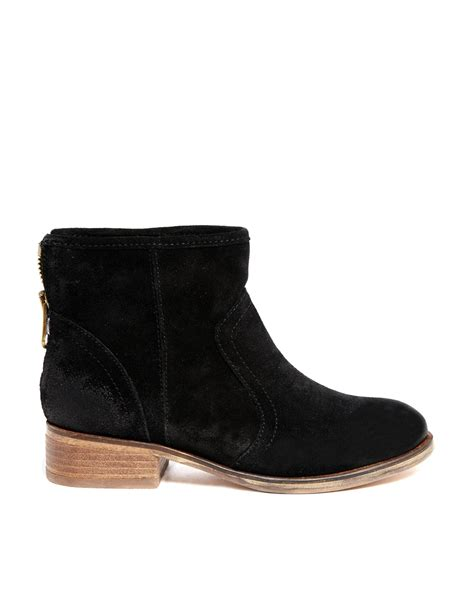 aldo flarola suede ankle boots in black 91black lyst