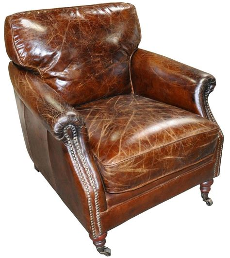 Vintage Leather Armchair Ebay by 29 Quot Wide Club Arm Chair Vintage Brown Cigar Italian