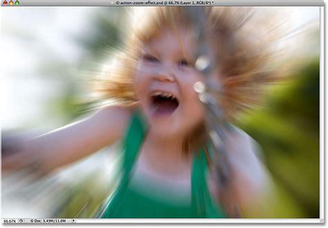 cara edit foto blur photoshop action zoom blurring effect in photoshop