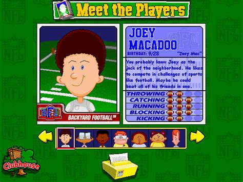 backyard sports kids image joey macadoo png backyard sports wiki