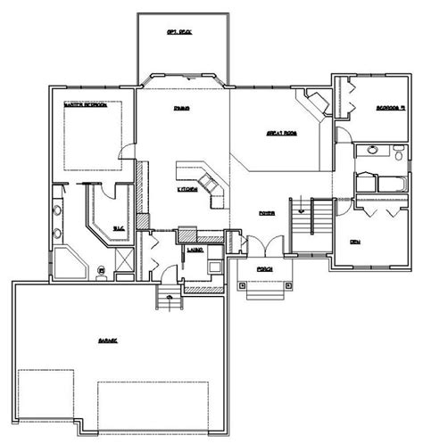 ranch rambler floor plans rambler house plans images