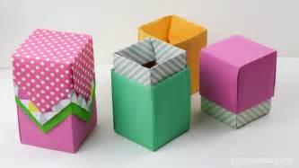 An Origami Box - origami box tutorial paper kawaii
