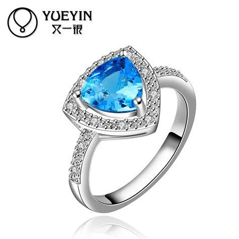 r006 selling white gold plated sapphire jewelry