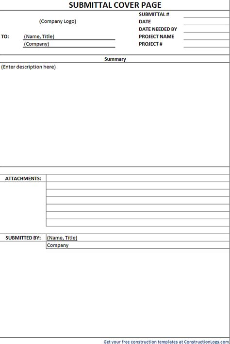 Submittal Form Template Download Free Excel Free Construction Submittal Log Template