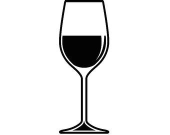 wine glass svg wine label svg etsy