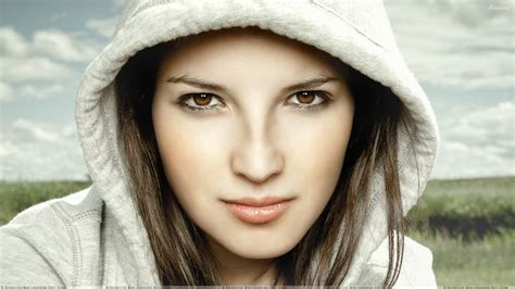 cute faces of girls cute girl in white jacket face closeup wallpaper