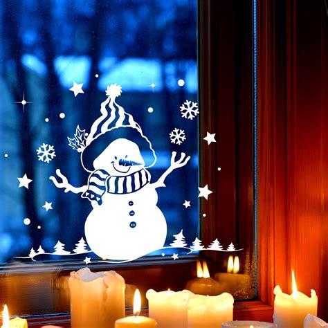 Fensterdeko Weihnachten Schneemann by Fensterbild Schneemann B 228 Ume Fensterdeko