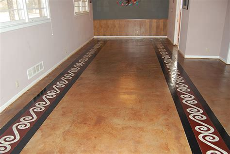 Ideas For Cement Floors by Painted Concrete Floors Concrete Floor Ideas Concrete