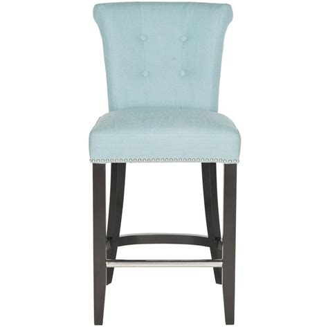 Safavieh Addo Ring Counter Stool by Carolina Cottage Romero Upholstered Nail Counter