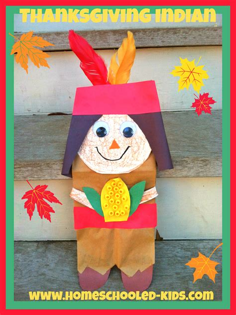 india crafts for thanksgiving indian craft homeschooled