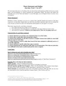 Format Of Thesis Statement Thesis Statement Outline Samples Images
