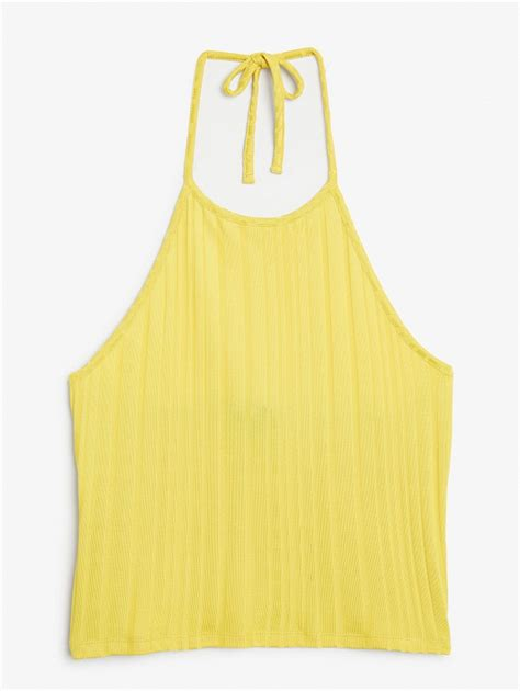 best yellow yellow halter top wardrobe mag