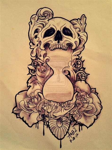 flowers skull n koi fish tattoo design 187 tattoo ideas