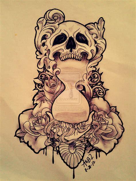 flowers skull n koi fish tattoo design 187 tattoo ideas