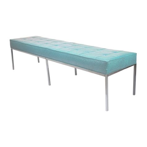 bench sure blue florence knoll bench blue formdecor