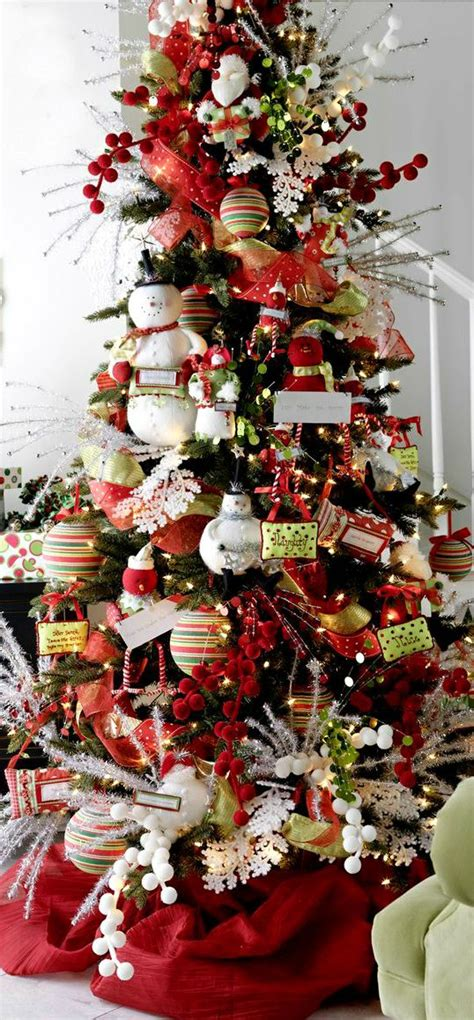 christmas tree decorated with snowmen 30 festive tree decoration ideas