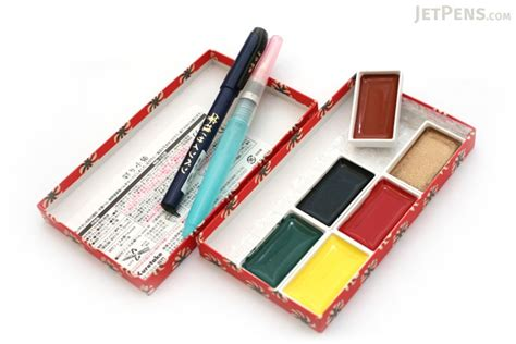 Kuretake Watercolor Brush M kuretake gift set 6 watercolor palettes brush waterbrush pen
