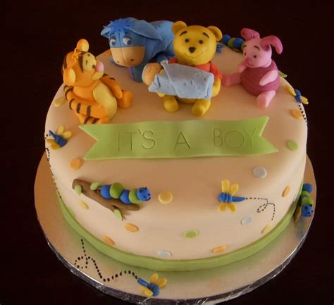 winnie the pooh cake baby shower winnie the pooh baby shower cake for boy jpg 3 comments