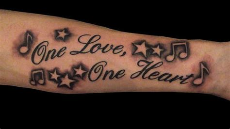 one love tattoos 36 unisex best tattoos designs
