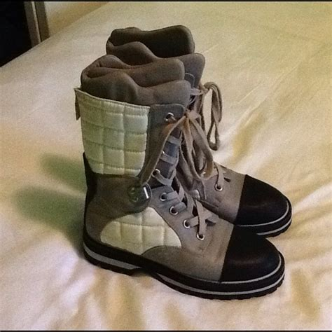40 chanel boots vintage chanel winter boots 100