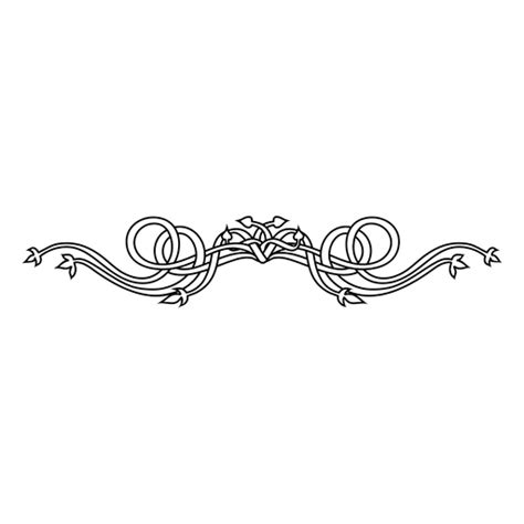 retro pattern png swirly floral lines ornament transparent png svg vector