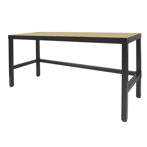bench australia pinnacle 1800 x 600 x 910mm metal workbench with mdf top
