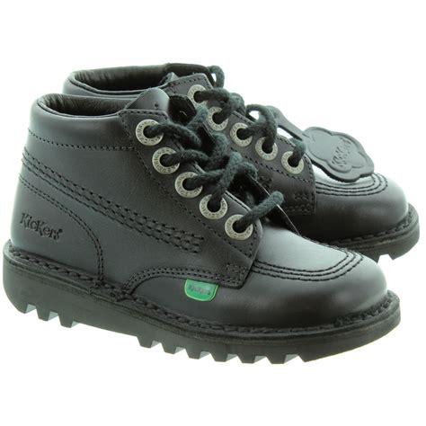Sepatu Kickers Boots Black Made In kickers leather kick hi boots in black in black