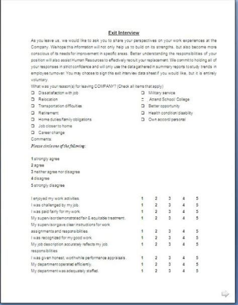 file layout interview questions exit interview form format in doc pdf citehrblog