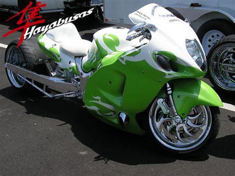 suzuki motorcycle green green white hayabusa suzuki quot hayabusa quot custombike