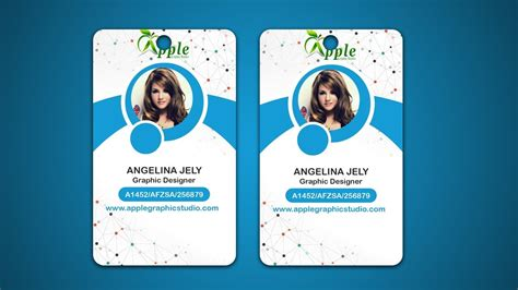 photo id card template photoshop design id cards id badge adobe photoshop tutorial