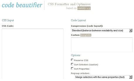 format html code beautifier 12 best online css compressors designers business
