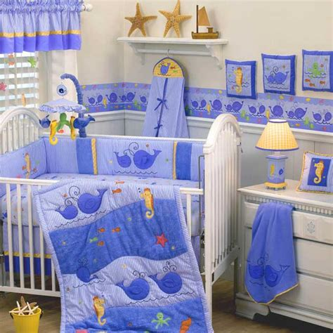 whale nursery bedding whales tales 6 piece crib set