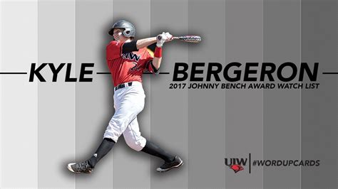 johnny bench award former bc standout bergeron on bench award watch list for