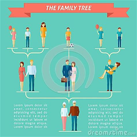 Family Tree Concept Stock Vector Image 52588483 Family Tree Concept Illustration Vector