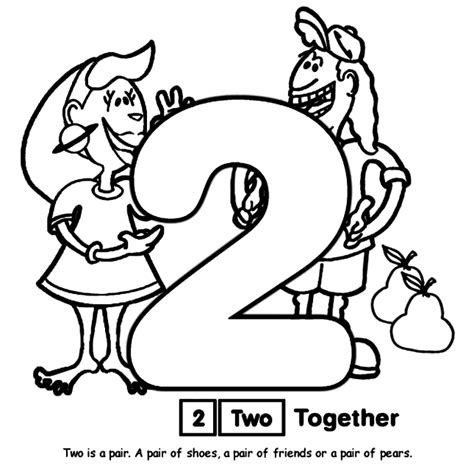 coloring page for number 2 number 2 coloring page crayola com