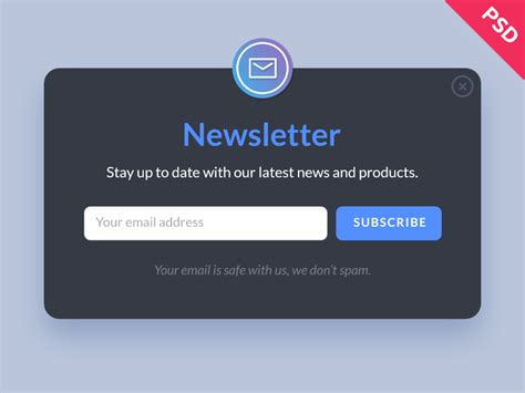 newsletter signup form template deeziner free newsletter form psd deeziner