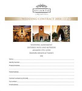 Editable Contract Template by 16 Wedding Contract Templates Free Sle Exle