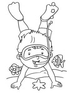 Diver Coloring Page  Free Pages On Art sketch template