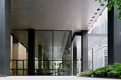 Ceiling Der by Ad Classics Seagram Building Mies Der Rohe Archdaily