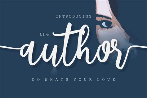 The Author the author by bonjourtype font bundles