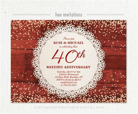 1000 ideas about anniversary party invitations on