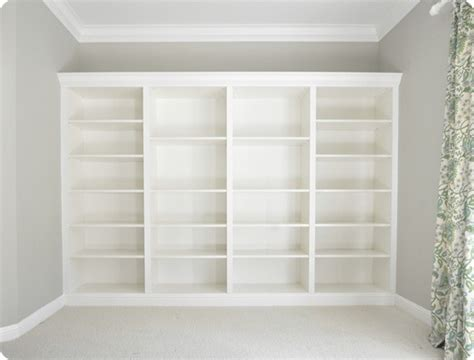 How To Make Ikea Bookcases Look Built In Applepins Com How To Make Built In Shelves