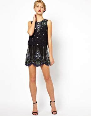 Get And Beyonces Look With This Embellished Hem Top by Image 4 Of Frock And Frill Embellished Shift Dress With