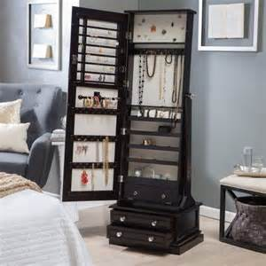 belham living swivel cheval jewelry armoire espresso www