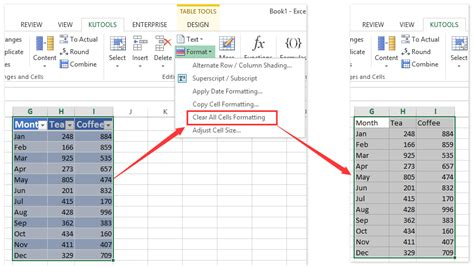 Remove Table Formatting by How To Quickly Clear Or Remove All Formatting Of Cells In