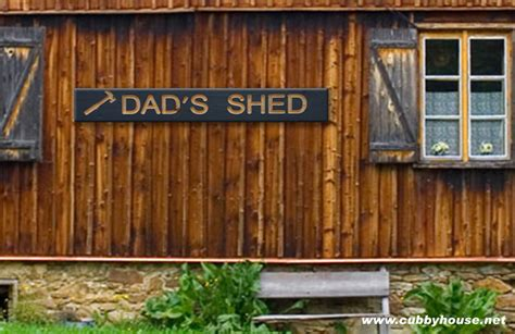 wood signs dads shed sign australian  wooden