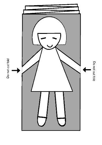 How To Make Paper Dolls Holding Step By Step - 18 best images about paper chain templates on