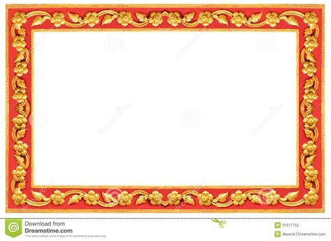 Wood Texture Painting - thai frame stock photography image 31517752