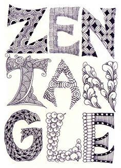 pattern design letter 1000 images about zentangle alphabets on pinterest