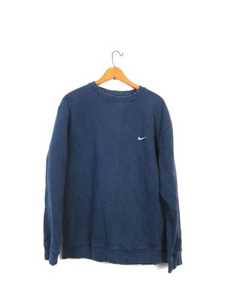 Navy Sweatshirt Sweater navy blue nike sweatshirt clothing